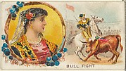 Bull Fight, from the Games and Sports series (N165) for Old Judge Cigarettes