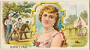 Bowling, from the Games and Sports series (N165) for Old Judge Cigarettes