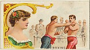 Boxing, from the Games and Sports series (N165) for Old Judge Cigarettes