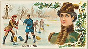 Curling, from the Games and Sports series (N165) for Old Judge Cigarettes