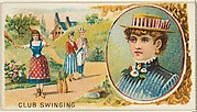 Club Swinging, from the Games and Sports series (N165) for Old Judge Cigarettes