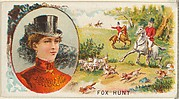 Fox Hunt, from the Games and Sports series (N165) for Old Judge Cigarettes