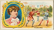 Fencing, from the Games and Sports series (N165) for Old Judge Cigarettes