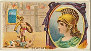 Gladiators, from the Games and Sports series (N165) for Old Judge Cigarettes