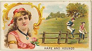 Hare and Hounds, from the Games and Sports series (N165) for Old Judge Cigarettes
