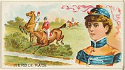 Hurdle Race, from the Games and Sports series (N165) for Old Judge Cigarettes