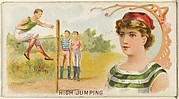 High Jumping, from the Games and Sports series (N165) for Old Judge Cigarettes