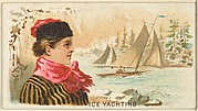 Ice Yachting, from the Games and Sports series (N165) for Old Judge Cigarettes