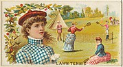 Lawn Tennis, from the Games and Sports series (N165) for Old Judge Cigarettes