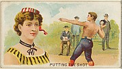 Putting the Shot, from the Games and Sports series (N165) for Old Judge Cigarettes