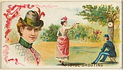 Pistol Shooting, from the Games and Sports series (N165) for Old Judge Cigarettes