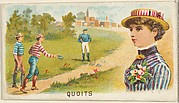 Quoits, from the Games and Sports series (N165) for Old Judge Cigarettes