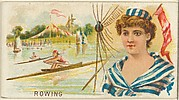 Rowing, from the Games and Sports series (N165) for Old Judge Cigarettes