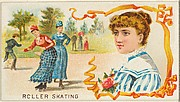 Roller Skating, from the Games and Sports series (N165) for Old Judge Cigarettes