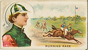 Running Race, from the Games and Sports series (N165) for Old Judge Cigarettes
