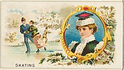 Skating, from the Games and Sports series (N165) for Old Judge Cigarettes
