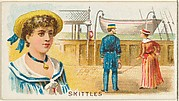 Skittles, from the Games and Sports series (N165) for Old Judge Cigarettes