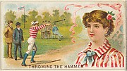Throwing the Hammer, from the Games and Sports series (N165) for Old Judge Cigarettes