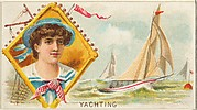 Yachting, from the Games and Sports series (N165) for Old Judge Cigarettes