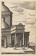 Partial view of a Building from the series Ruinarum variarum fabricarum delineationes pictoribus caeterisque id genus artificibus multum utiles