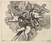 Four Cherubs Carrying a Cross
