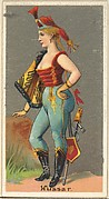 Hussar, from the Occupations for Women series (N166) for Old Judge and Dogs Head Cigarettes