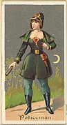 Policeman, from the Occupations for Women series (N166) for Old Judge and Dogs Head Cigarettes