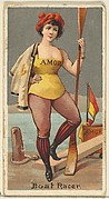 Boat Racer, from the Occupations for Women series (N166) for Old Judge and Dogs Head Cigarettes