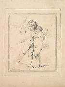 A Pair of Cupids – Cupid and Psyche (from Imitations of Modern Drawings)