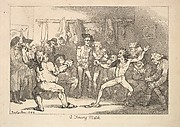 A Fencing Match (from Imitations of Modern Drawings)