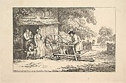 A Travelling Knife-grinder at a Cottage Door (from Imitations of Modern Drawings)