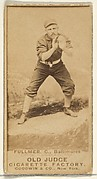 Fullmer, Catcher, Baltimore Orioles, from the Old Judge series (N172) for Old Judge Cigarettes