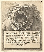 Title Page, Divers Anticke Faces