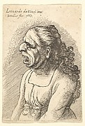 Bust of Woman with Open Mouth and long hair
