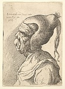 Bust of Woman with Conical Hat