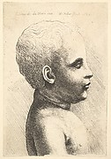 Bust of naked child