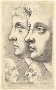 Two Large Heads of Youths and Two Small Heads of Old Men