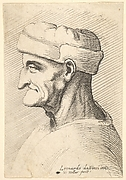 Bust of Old Man with Round Cap and Ear Flaps
