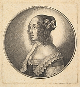 Woman's Head with Curly Hair (Lady with Bowknot in her Hair)