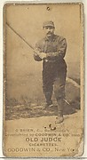 O'Brien, Catcher, Baltimore Orioles, from the Old Judge series (N172) for Old Judge Cigarettes