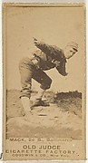 Mack, 2nd Base, Baltimore Orioles, from the Old Judge series (N172) for Old Judge Cigarettes