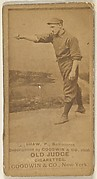 Shaw, Pitcher, Baltimore Orioles, from the Old Judge series (N172) for Old Judge Cigarettes