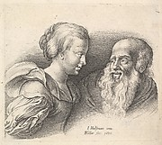 An Old Man and a Girl, after Hulsman