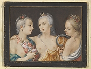 Heads of Goddesses (Flora, Diana, Ceres)