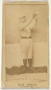 Caruthers, Pitcher, Brooklyn, from the Old Judge series (N172) for Old Judge Cigarettes