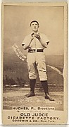 Hughes, Pitcher, Brooklyn Bridegrooms, from the Old Judge series (N172) for Old Judge Cigarettes
