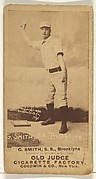 G. Smith, Shortstop, Brooklyn Bridegrooms, from the Old Judge series (N172) for Old Judge Cigarettes