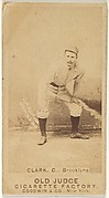 Clark, Catcher, Brooklyn, from the Old Judge series (N172) for Old Judge Cigarettes