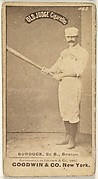 Burdock, 2nd Base, Boston, from the Old Judge series (N172) for Old Judge Cigarettes
