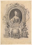 Portrait of Queen Marie-Antoinette in an ornamental frame